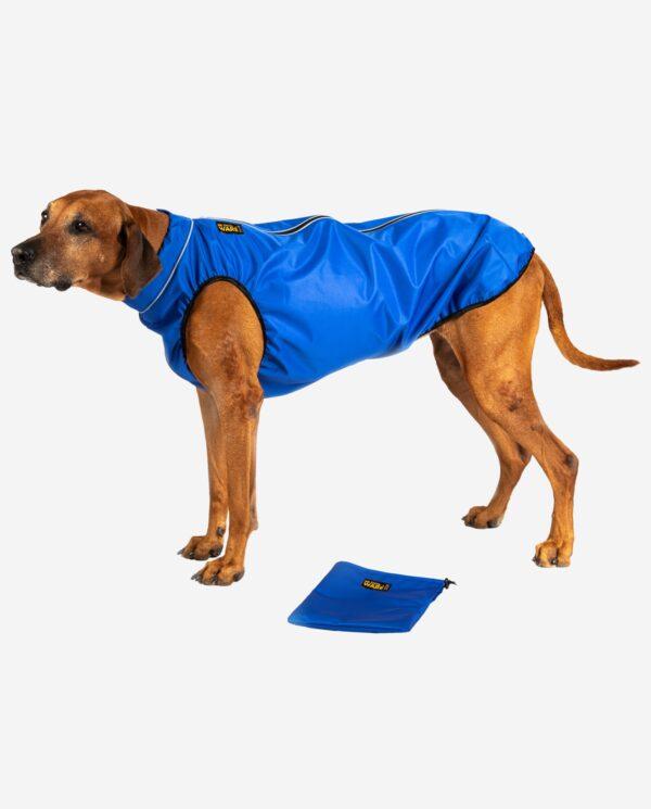 Hundemantel Regenjacke Strapazierfähig Royalblau RR DOG`s WARE Hundebekleidung