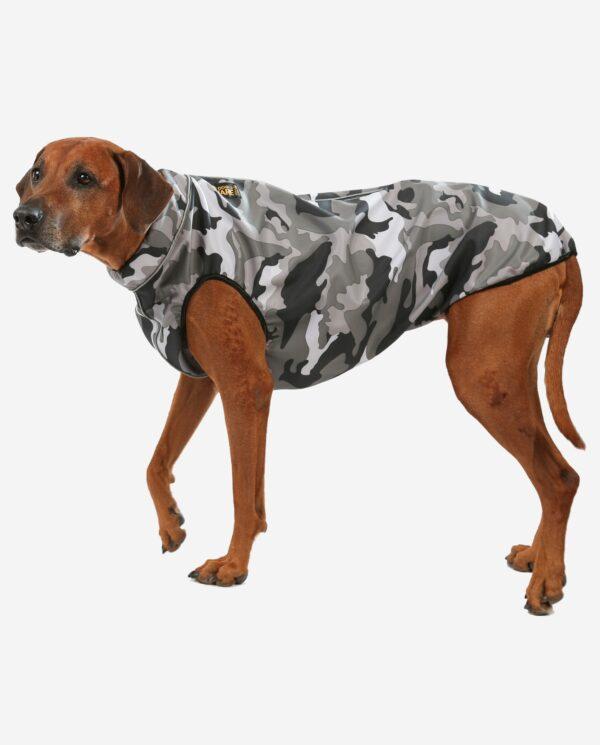 Hundemantel Softshell Camouflage Schnee