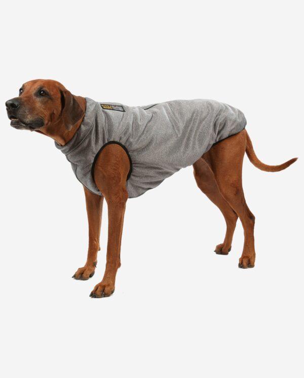 Hundemantel Infrarot Ceramicfutter Grau melange