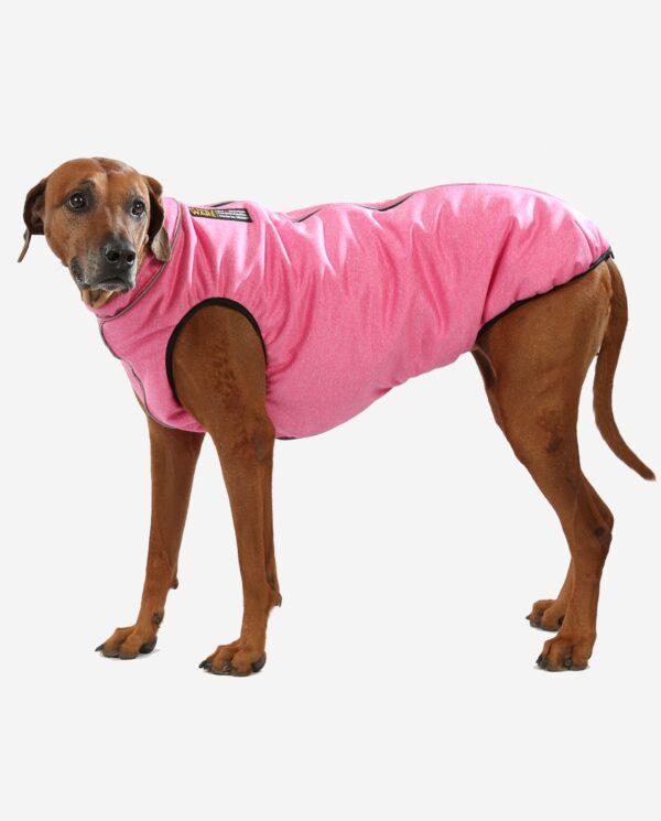 Hundemantel Infrarot Ceramicfutter Rosa melange
