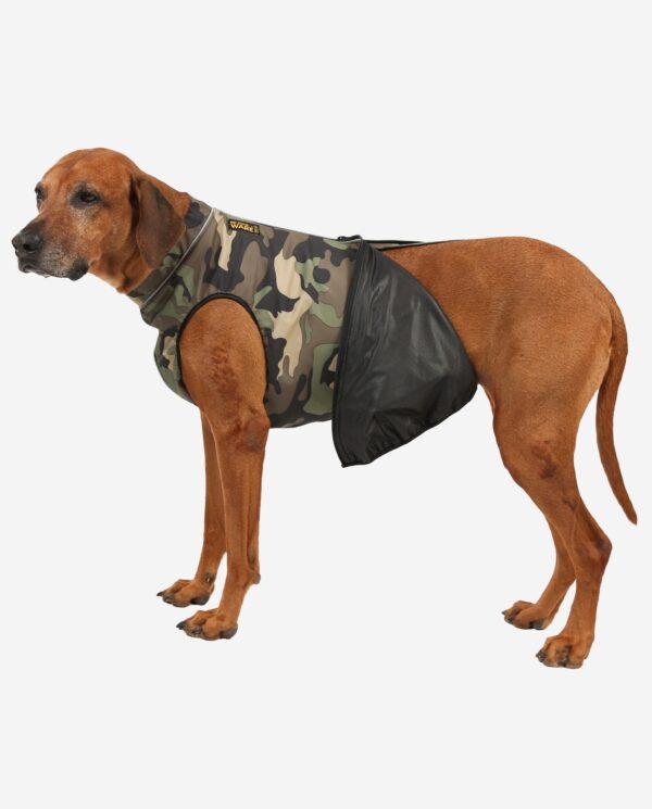 RR DOG`s WARE® Hundemantel Softshell Wasserdicht Camouflage Wald Blackliner-Membran