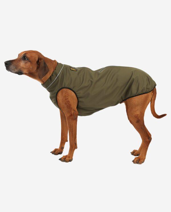 RR DOG`s WARE® Hundemantel Softshell Wasserdicht Khakigrün