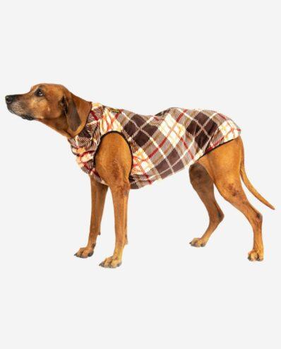 Hundemantel Bodywarmer Polarfleece Design Karo RR DOG`s WARE Hundebekleidung