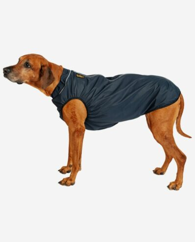Hunderegencape Marineblau mit Leuchtbiese RR DOG`s WARE