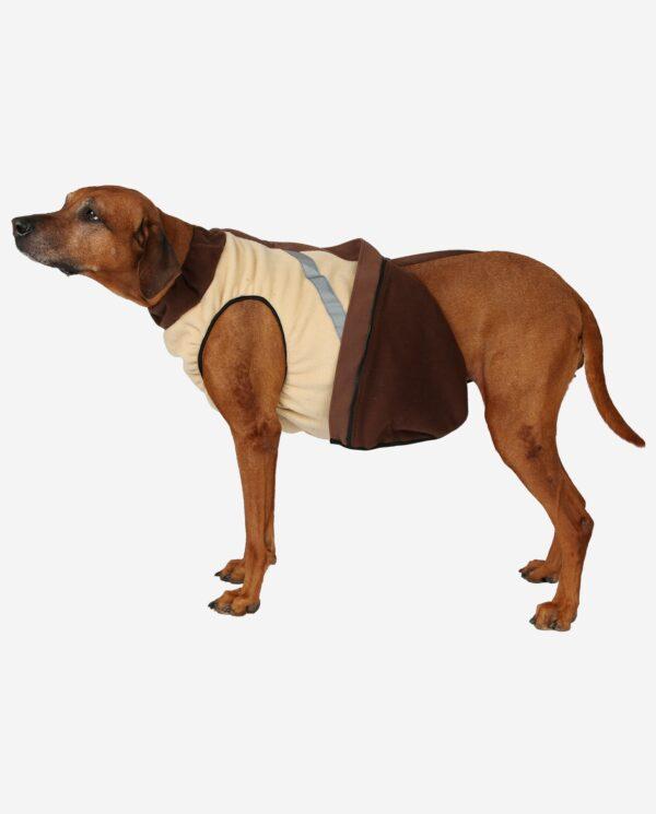 Hundewendemantel Polarfleece Beige Und Braun RR DOG`s WARE