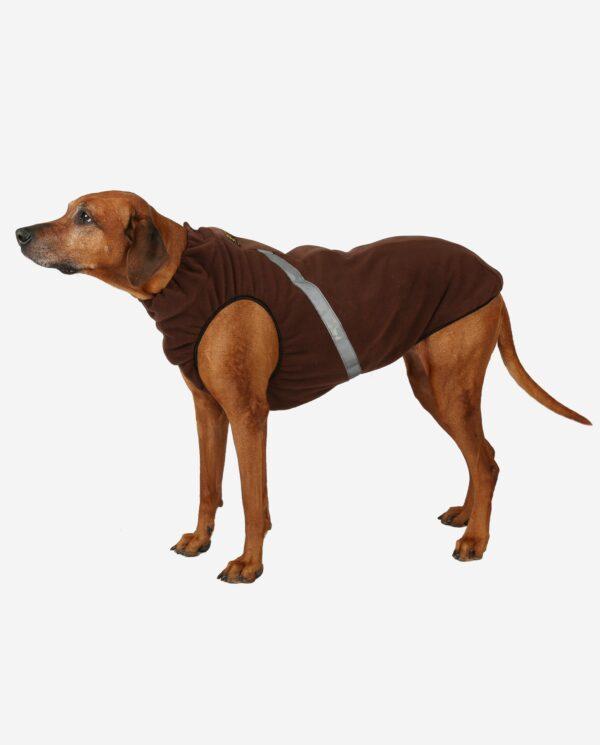 Hundewendemantel Polarfleece Braun RR DOG`s WARE