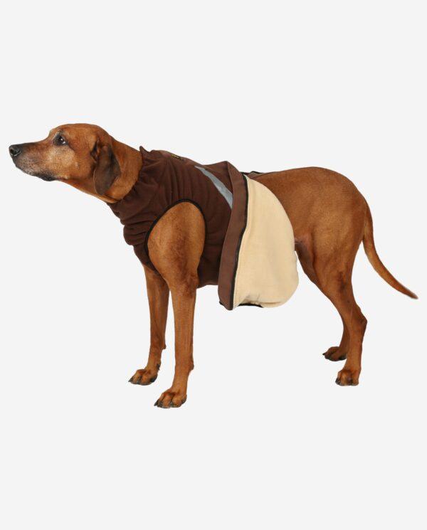 Hundewendemantel Polarfleece Braun Und Beige RR DOG`s WARE